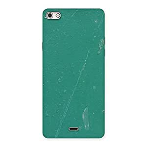 Enticing Green Paint Crack Print Back Case Cover for Micromax Canvas Silver 5