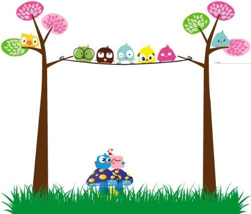 Azulejos Para Baño Bricor:Vinilo Infantil-Quekukos vinilo buhos en arbol y setas 50x42cm color