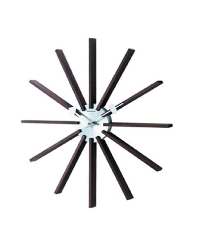 George Nelson Square Wooden Spindle Wall Clock