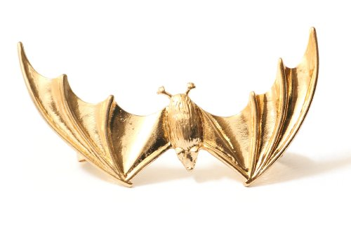 Vampire Bat Earring Ear Cuff Gold Tone Gothic Animal Clip on Halloween Fashion Jewelry