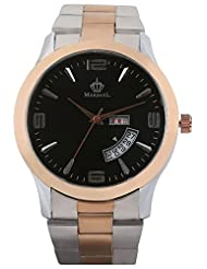 MARSHAL Day Date Copper & Silver Analogue Black Dial Men's Watch - (MRSL-MEN-002)