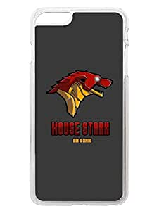 iPhone 6 6S Cases & Covers - GOT - House Stark - Designer Printed Hard Case with Transparent Sides