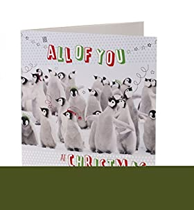 Fun Penguins Record Your Own Message Christmas Card