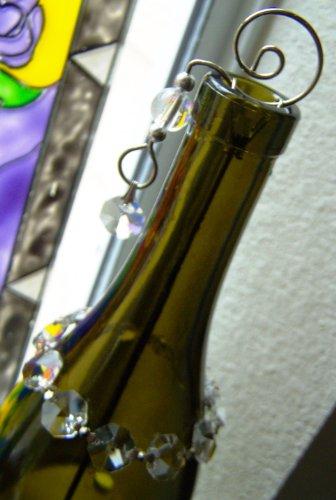 Soporte para incienso Mystery Mountain botella Art/quemador de esencias (con parte posterior con revestimiento de 1 unidades de incienso) - hecha a mano por GypsyBeat LLC - producto ecológico