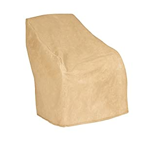Budge All-Seasons Small Outdoor Chair Cover P1A03SF1, Tan (31 H x 30 W x 27 D)