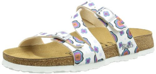Birki Womens SALINA BF DD Sandals White Weià (BUTTONS I LOVE WHITE) Size: 5 (38 EU)