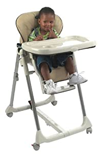 Peg Perego Prima Pappa Multi-Position Leatherette High Chair - Tan