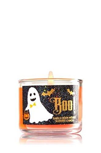 [Bath & Body Works Mini Candle BOO! Pumpkin Carving Halloween] (Halloween Candles)