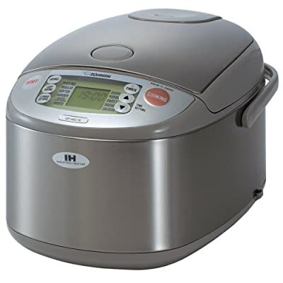 Zojirushi NP-HBC18 10-Cup (Uncooked) Rice Cooker and Warmer with Induction Heating System, Stainless Steel from Zojirushi