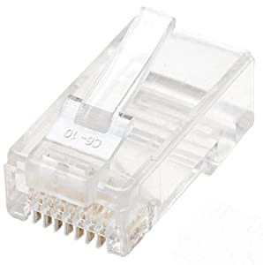 Intellinet Cat6 RJ45 UTP Standard Modular Plugs, 100 Pack (502344)