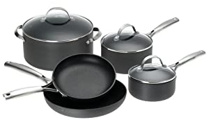 WearEver Premium Hard-Anodized 8-Piece Cookware Set