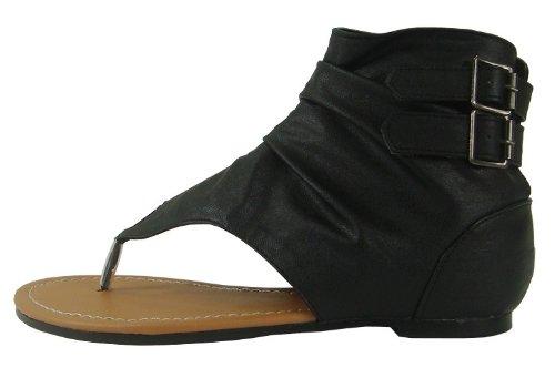 gladiator thong booties