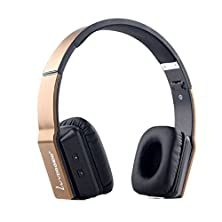 buy Ularmo 2015 New Hot Foldable Stereo Wireless Bluetooth Headphone Headset With Mic For Pc Computer Laptop (Gold)