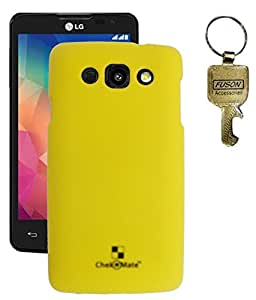 Premium Hard Bace Case Cover For LG L60 - X145 Yellow Colour With Key