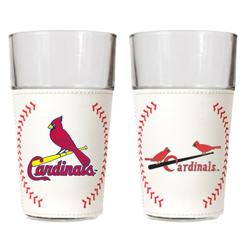 MLB St. Louis Cardinals Gameball Pint Glass Set (2-Piece), 16-Ounce at Amazon.com