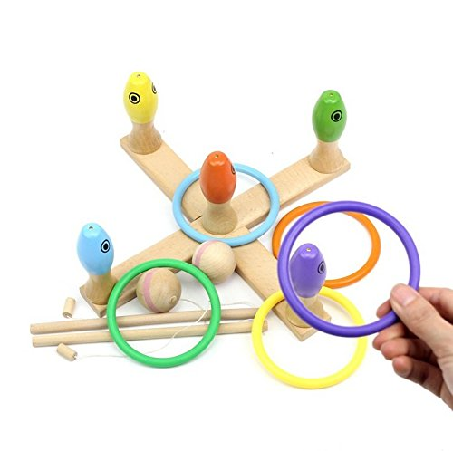 Rolimate-3-in-1-Preschool-Educational-Early-Development-Wooden-Magnetic-Bath-Fishing-Ring-Toss-Blowing-Game-Birthday-Gift-Toys-for-age-3-4-5-Year-Old-Kid-Children-Baby-Toddler-Boy-Girl-Magnet-Toy