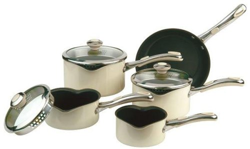 Meyer Select Advantage Non-stick Cookware Saucepan Set, 5 Piece, Almond
