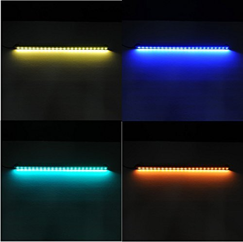 amzdeal aquarium lampe 61cm 24 led multicolore smd. Black Bedroom Furniture Sets. Home Design Ideas