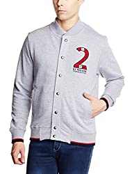 U.S.Polo.Assn. Men's Cotton Sweatshirt (8907259127705_USSS0474_S _Grey Melange)