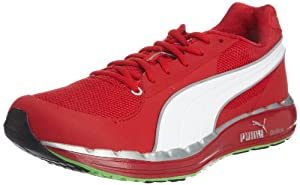 Puma Faas 500, Men's Low-Top Trainers, Red/Silver/Green, 8.5 UK
