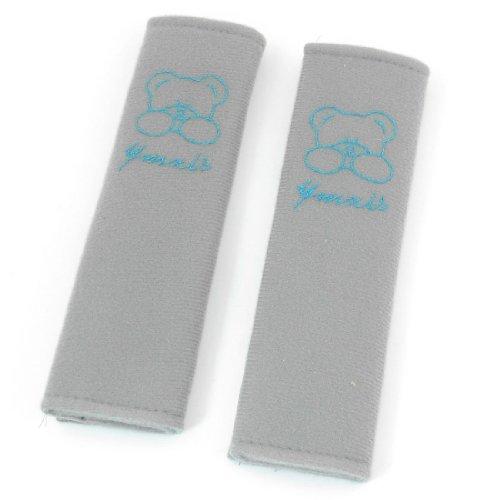 Auto Car Safety Seat Belt Seatbelt Cover Shoulder Pad Gray Blue 2 Pcs front-1043689