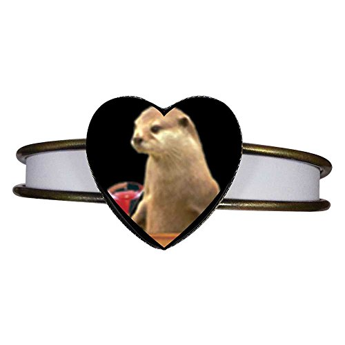 GiftJewelryShop Bronze Retro Style Prairie Dog With A Drink Heart Cuff Bangle Bracelet Fashion Jewelry