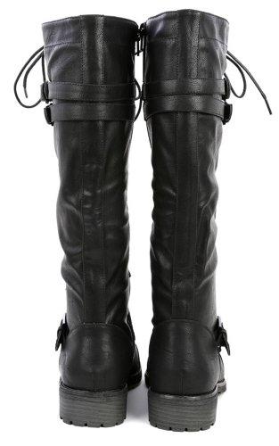Wild Diva Womens Timberly-65 Boots - stylishcombatboots.com