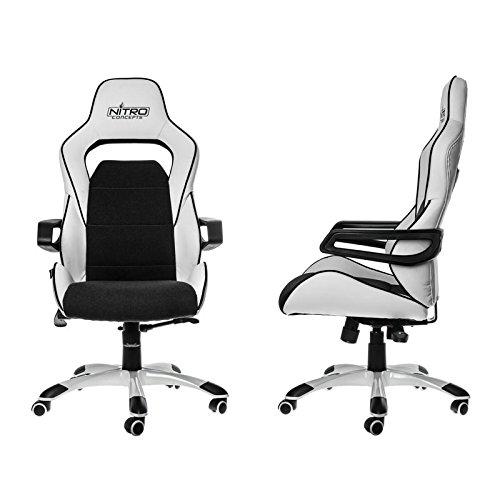 nitro-concepts-nc-e220e-wb-fauteuil-gaming-e220-evo-faux-cuir-blanc-noir-124-x-54-x-50-cm