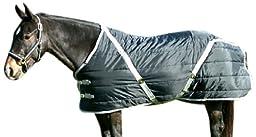 High Spirit Snuggie Pony Stable Blanket, 62-Inch, Black/Silver