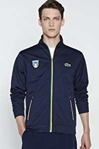 Men's Rio Full Zip Lacoste Crest Sweatshirt