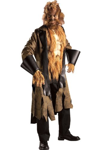Adult Mens Big Mad Wolf Costume Fairytale Theatre Costumes