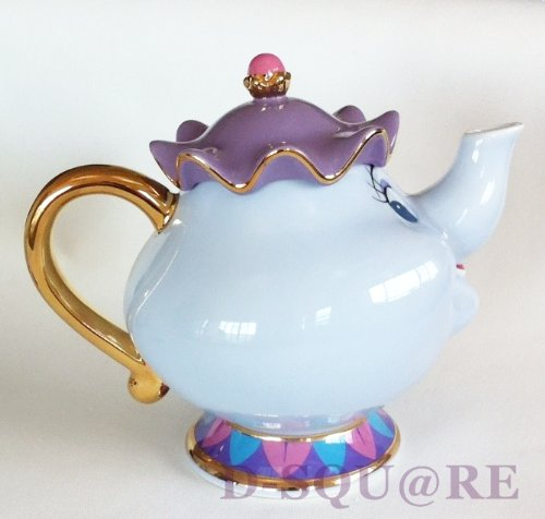 Disney Resort Limited Beauty And The Beast Tea Set Of Chip
