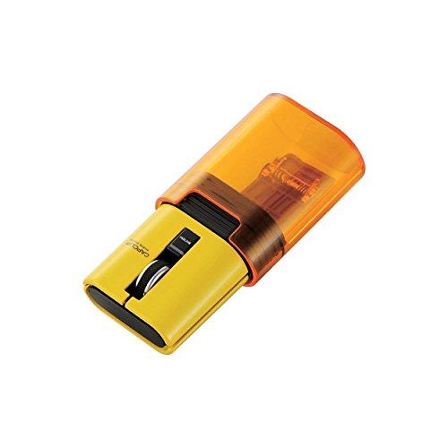 ELECOM Bluetoothマウス CAPCLIP 3ボタン IRLED搭載 充電式 イエロー M-CC1BRYL