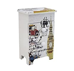 Shopaholic Vintage Themed Multipurpose Storage Box with Three Drawers To Store Kids Valuables-Small