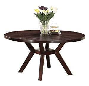 Com Acme 16250 Drake Espresso Round Dining Table 48 Inch Tables