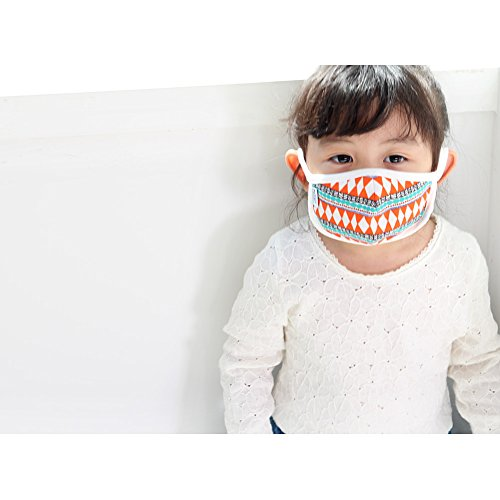 Organic Cotton Filtering Mask, Children Dust Mask / Early Child Size 2 to 12 Years (2 - 6 Year, Orange)