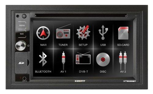 Xzent XT9026BT Navigationssystem ( 6.2 Zoll Display,starrer Monitor, 16:9,Kontinent )