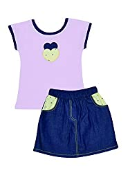 Cool Colour Top & Skirt set