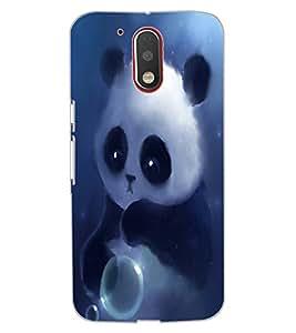 ColourCraft Cute panda Design Back Case Cover for MOTOROLA MOTO G4