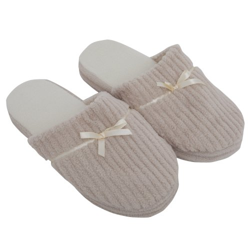 Cheap Ladies/Womens Soft Slip-On Indoor Footwear/Slippers With Bow (B009BFOJPC)