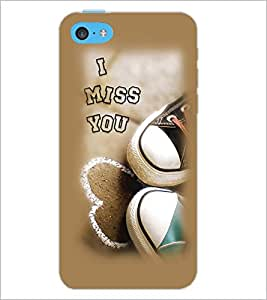 PrintDhaba I Miss You D-1998 Back Case Cover for APPLE IPHONE 5C (Multi-Coloured)