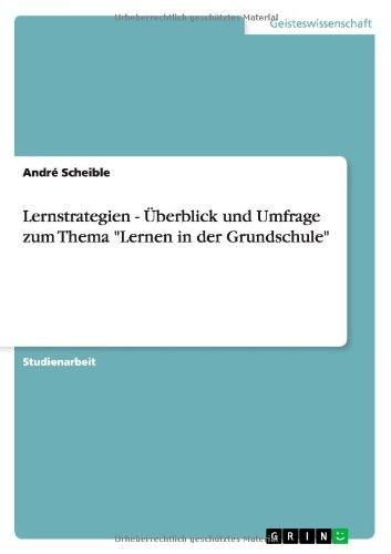 """Lernstrategien - Überblick und Umfrage zum Thema """"Lernen in der Grundschule"""", Buch"""