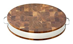 Mountain Woods Acacia Wood Cutting Board with Steel Band