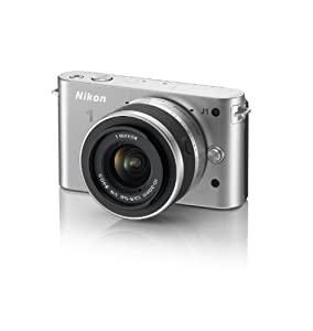 Nikon 1 J1 10.1 MP HD Digital Camera System with 10-30mm VR 1 NIKKOR Lens (Silver)
