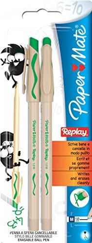paper-mate-replay-penna-a-sfera-cancellabile-tratto-medio-confezione-da-2-colore-verde