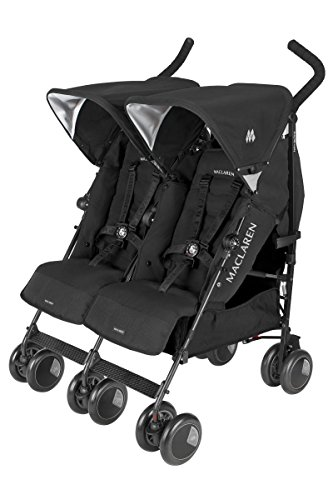 Maclaren Twin Techno Stroller, Black - 1
