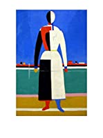 Especial Arte Lienzo Frau mit Harke anagoria - Kazimir Malevich Multicolor