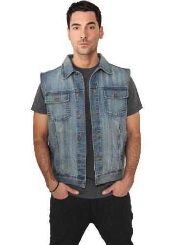 """Urban Classics jeans clarytone """"Denim Vest"""", dimensioni: L, colore: blu chiaro"""