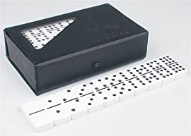 Double 9 Tournament Black Dot Domino Set