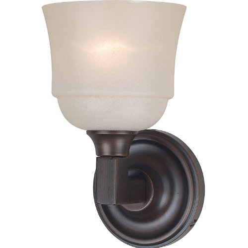 Royce Lighting RV5208ES1-117 Brighton - One Light Bath Vanity, Heritage Bronze Finish with Cream Snow Glass